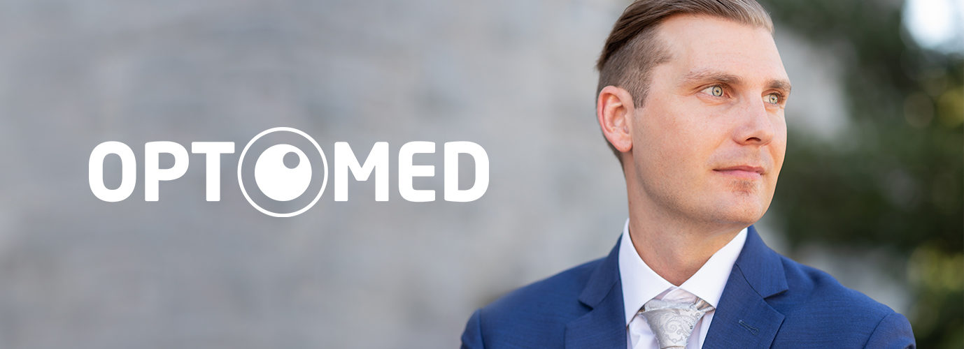 Juuso Erixon and Optomed logo