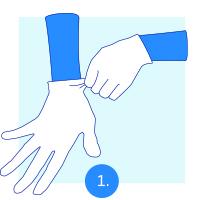 Wear disposable gloves for hygienic handling