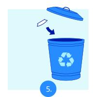 Replace disposable part after each patient