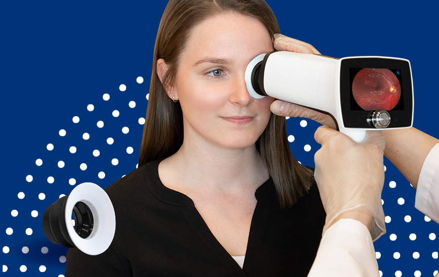 Optomed E-Safe and eye fundus imaging